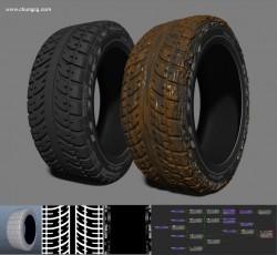 타이어 만들어 봤습니다.