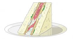 돈가스 + 햄 샌드위치!
