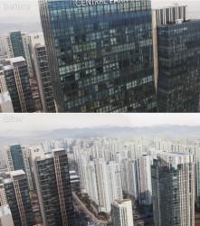 빌딩 뒷배경 매트페인팅